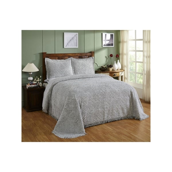 Wedding Ring Chenille Bedspread Free Shipping Today Overstock