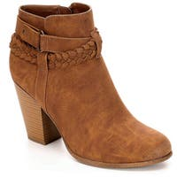 Limelight Womens Jenelle High Heel Western Ankle Boots