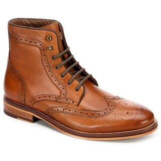 Restoration Mens Jaggar Wingtip Lace Up Boots