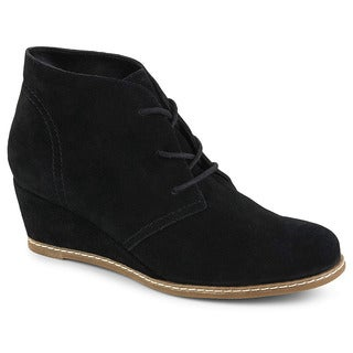 Bjorndal Womens Rachel Wedge Heel Chukka Booties