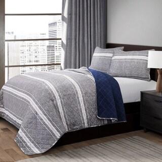 Lush Decor Marlton Stripe 3 Piece Quilt Set