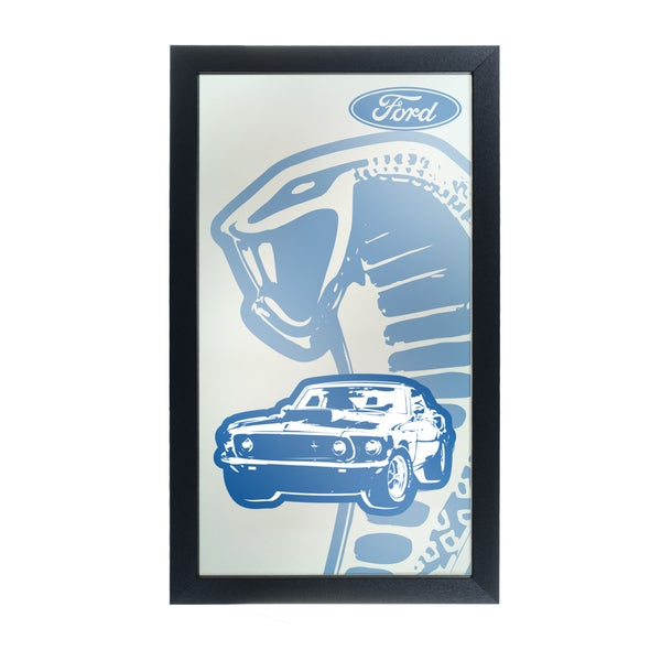 Ford Framed Logo Mirror - Cobra
