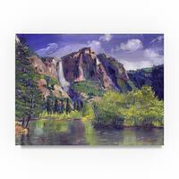 David Lloyd Glover 'Waterfall Yosemite' Canvas Art