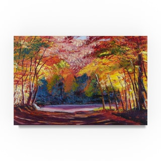David Lloyd Glover 'A The End Of The Road Ii' Canvas Art