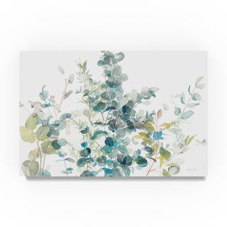 Danhui Nai 'Eucalyptus I White Crop' Canvas Art