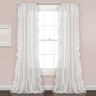 "Lush Decor Ruffle Polka Dots Window Curtain Panel Pair - 40""w x 84""l"