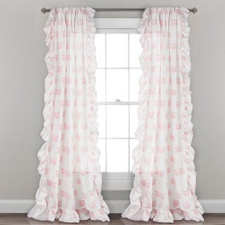 Lush Décor Ruffle Fox Window Curtain Panel Pair