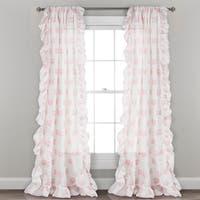 Lush Decor Ruffle Fox Window Curtain Panel Pair