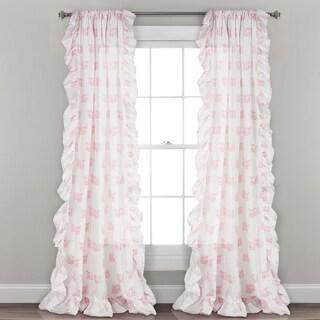 "Lush Decor Ruffle Fox Window Curtain Panel Pair - 52""W x 84""L"