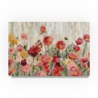Silvia Vassileva 'Sprinkled Flowers Crop' Canvas Art