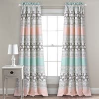 "Taylor & Olive Hubbard Elephant Stripe Room Darkening Window Curtain Panel Pair - 52"" x 84"""