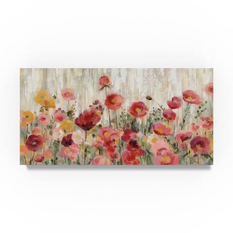 Silvia Vassileva 'Sprinkled Flowers' Canvas Art