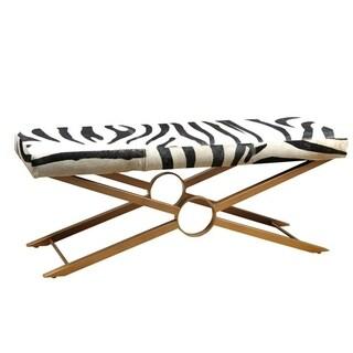 Studio Bench Zebra Hide / Gold Base
