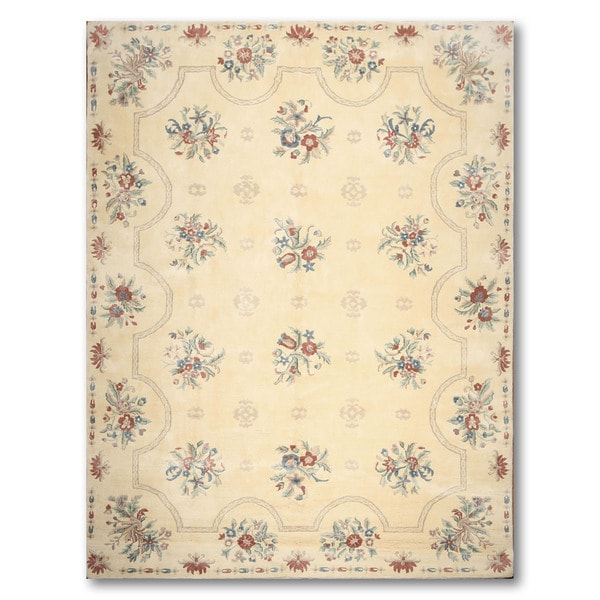 Glam Country Cottage Floral Savonnarie Area Rug - multi