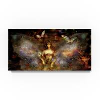 RUNA 'Girl-Butterfly 17' Canvas Art