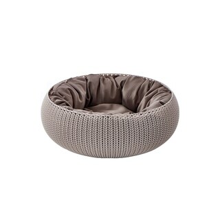Keter KNIT Cozy Pet Bed with Cushion