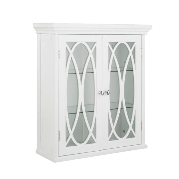 24 H Lynne Two Doors Wall Cabinet With 2 Adjule Tempered Gl Shelves Free Shipping Today 18702781