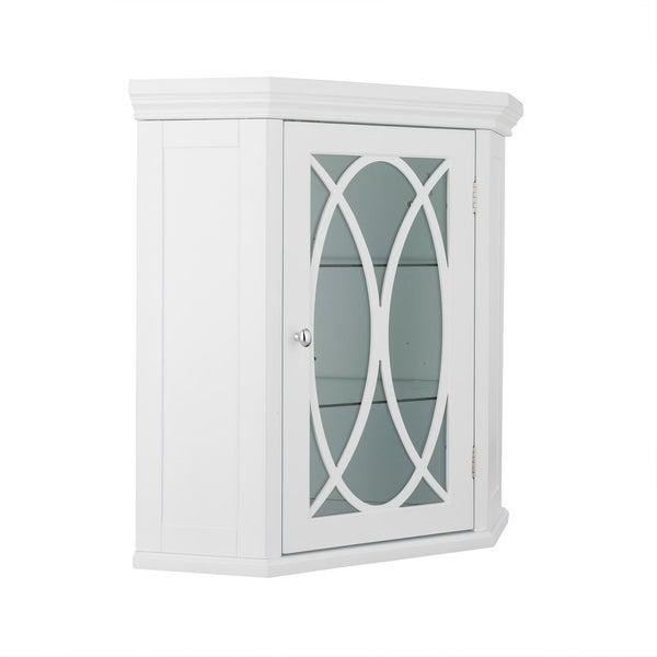 Shop 24 5 H Lynne Corner Wall Cabinet With 2 Adjustable Tempered