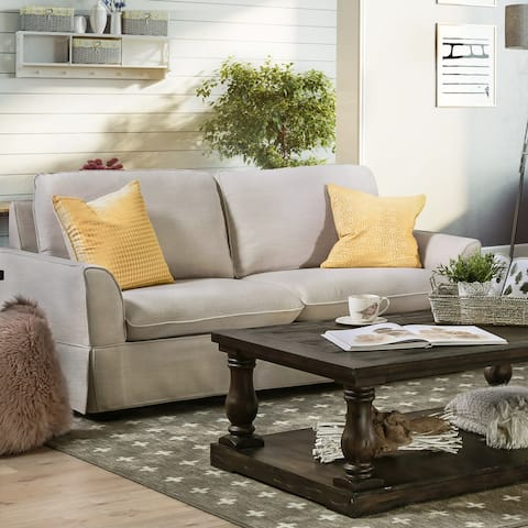 Furniture of America Nis Traditional Linen Fabric Slipcover Loveseat