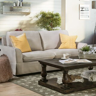 Furniture of America Laurel Fabric Classic Skirted Sofa