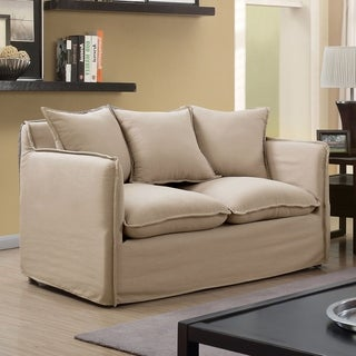Furniture of America Telermon Fabric Classic Slipcover Loveseat