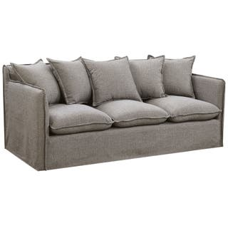 Furniture Of America Telermon Boho Shabby Chic Linen Sofa
