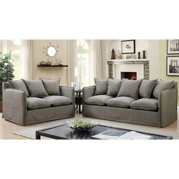 Shop Furniture Of America Rass Boho Shabby Chic Linen Fabric