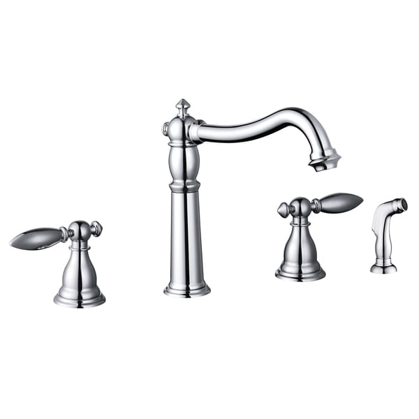 Two Handle Kitchen Faucet with Side Sprayer