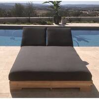 Hollywood Teak Double Chaise Lounge