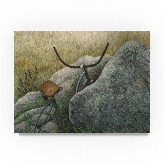 John Morrow 'Between a Rock and a Hard Place' Canvas Art
