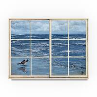 Sher Sester 'Beach Reflections Through The Window' Canvas Art