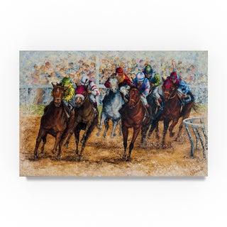 Sher Sester 'The Derby' Canvas Art