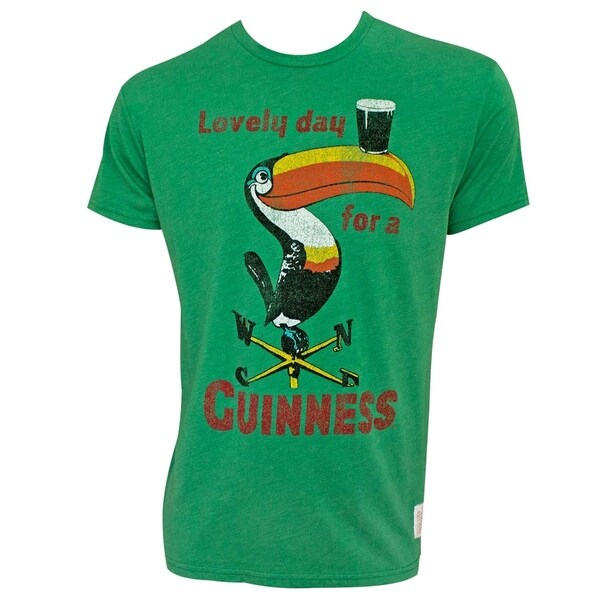 Shop Guinness Vintage Toucan Green Tee Shirt Free