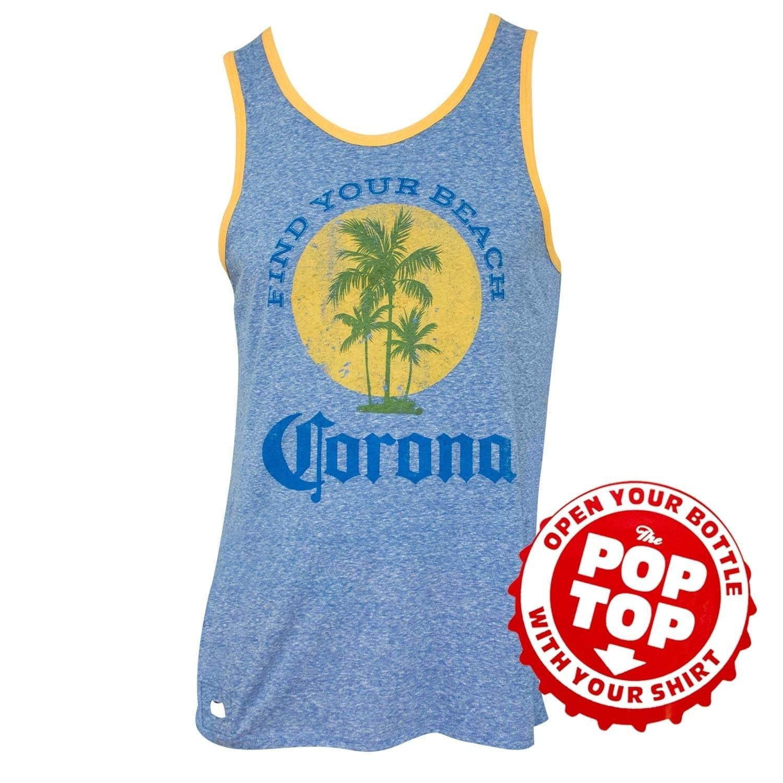 Corona Extra Men's Blue Find Your Beach Pop Top Bottle | eBay
