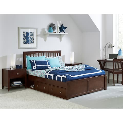 Hillsdale Pulse King Mission Bed with Storage , Chocolate