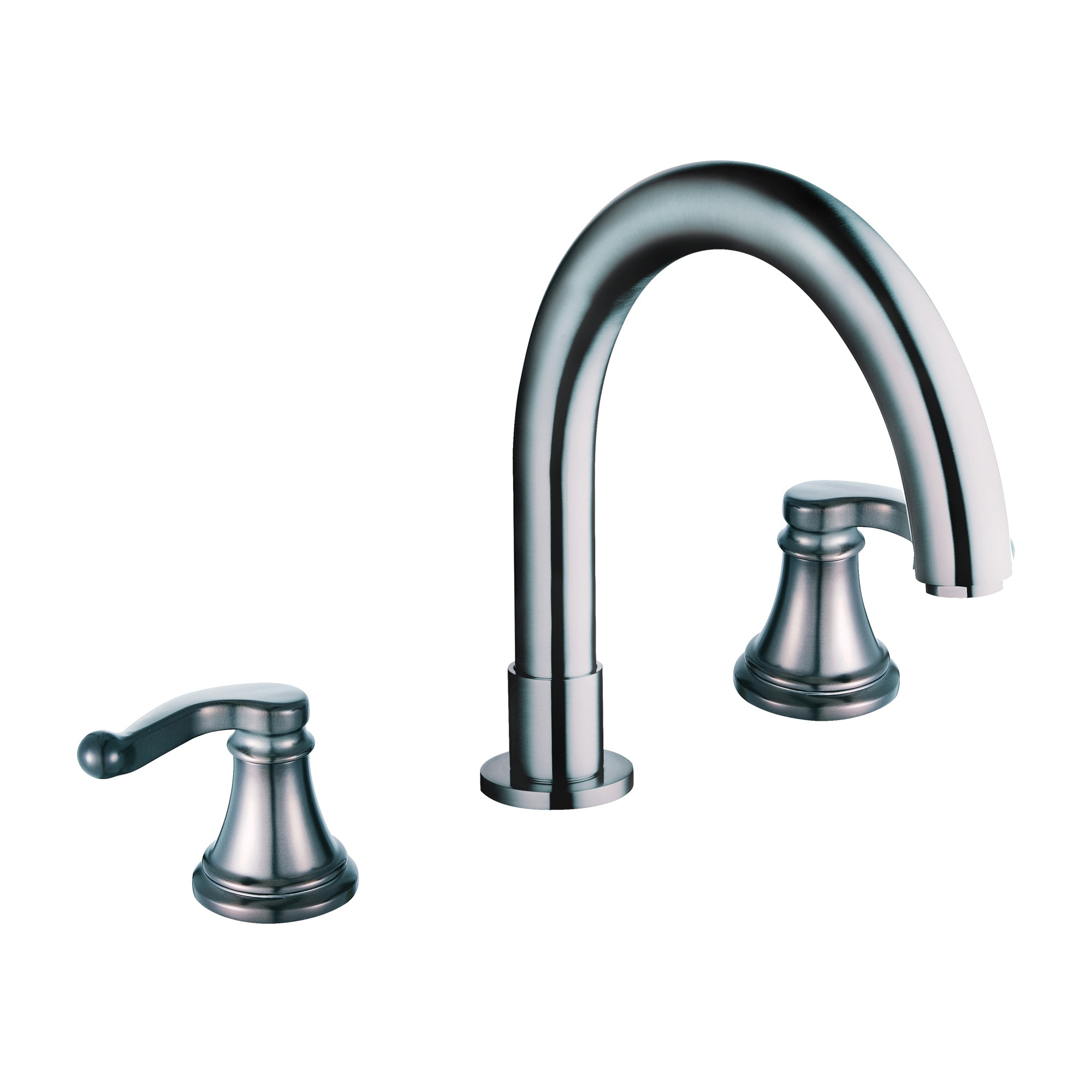 Yosemite Two Handle Widespread Tub Faucet, Nickel