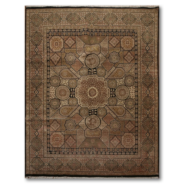 Ornate & Rich Classic Hand Knotted Persian Oriental Area Rug (8'x10') - multi