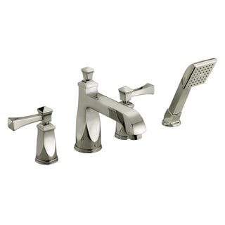 Roman Tub Faucet With Hand-held Shower Brushed Nickle
