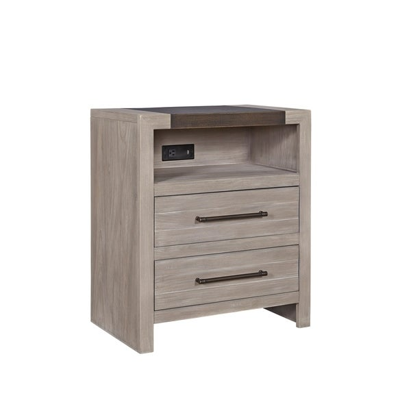 Scrimmage Greystone 2-drawer Nightstand