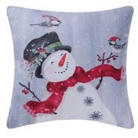 Snowman Indoor / Outdoor 18 Inch Throw Pillow