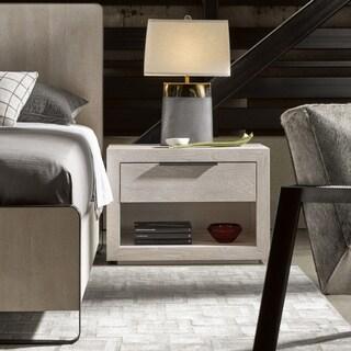 Modern Huston Quartz Tan Wood 1-drawer Nightstand