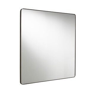 Modern Bronze Square Accent Mirror