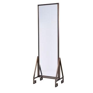 Modern Bronze Metal Floor Mirror