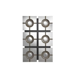 Modern Charcoal Accent Mirror