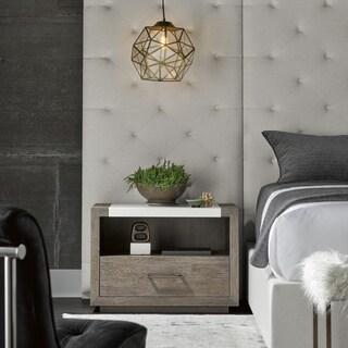 Universal Furniture Wilshire Charcoal Wood/Stone Modern 1-drawer Nightstand