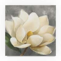 Albena Hristova 'Magnolia Blossom on Gray' Canvas Art