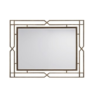 Postscript Antique Brass Rectangular Mirror