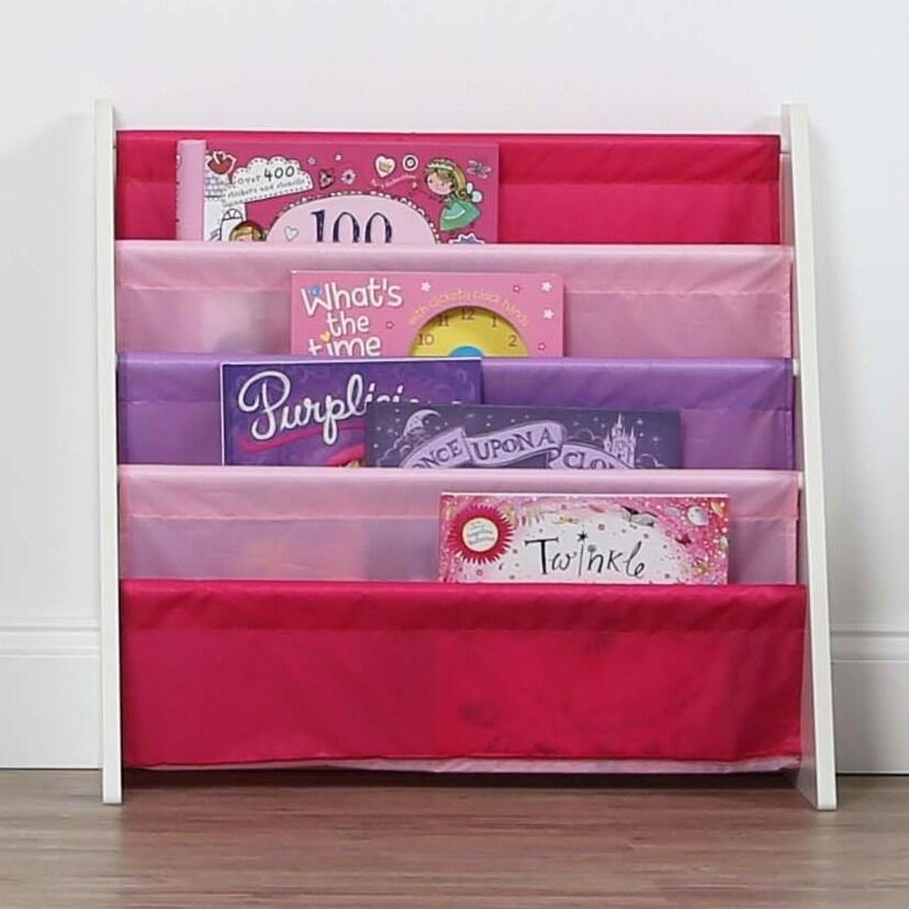 Friends Kids Book Rack Storage Bookshelf White Pink Purple