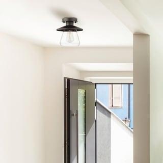 Carbon Loft Keyvani 1-light Oil Rubbed Bronze Semi-Flush Mount Ceiling Light