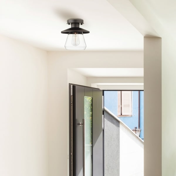 Carbon Loft Keyvani 1-light Oil Rubbed Bronze Semi-Flush Mount Ceiling Light. Opens flyout.